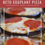 Keto Eggplant Pepperoni Pizza