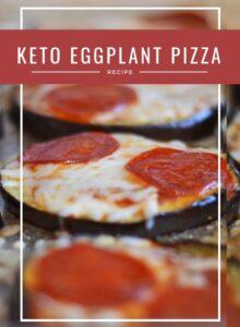 Keto Eggplant Pepperoni Pizza
