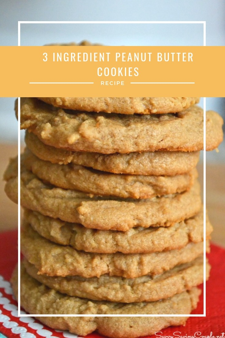 Only 3 Ingredient Peanut Butter Cookies Recipe