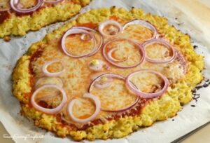 Keto Low-Carb Cauliflower Pizza Crust Recipe