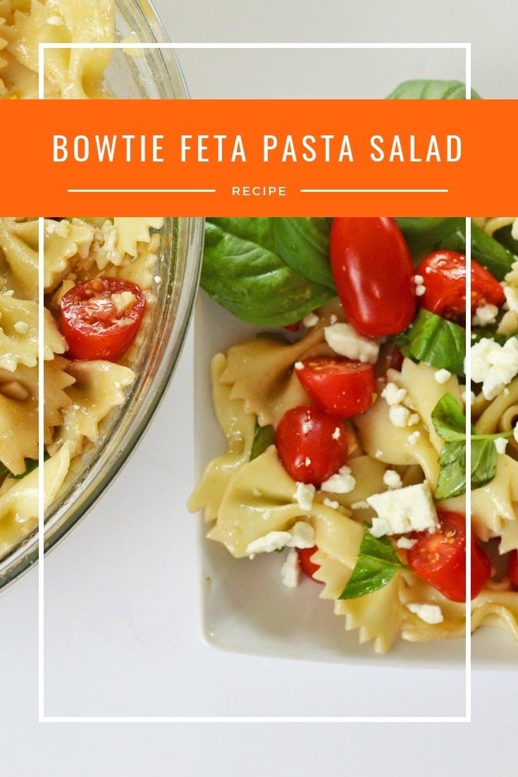 Bowtie Feta Pasta Salad