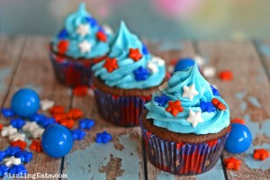 Patriotic Star Chocolate Cupcakes