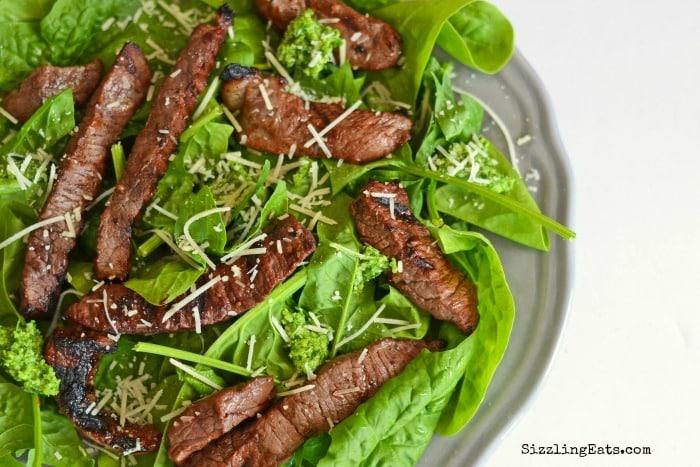 pesto-steak-salad