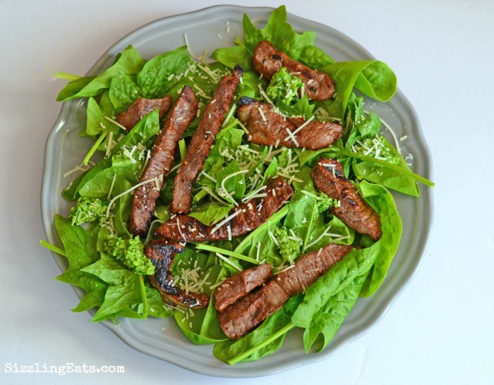 steak-spinach-salad