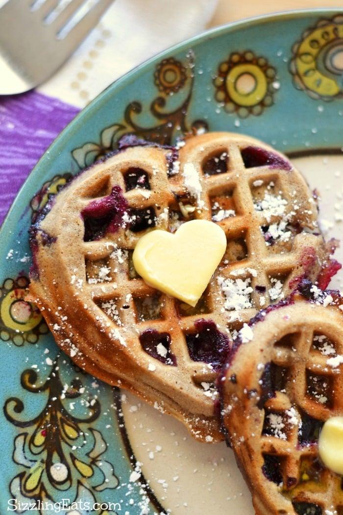 Blueberry-heart-shaped-waffles