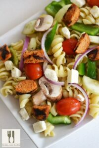 Greek Pasta Salad with Feta & Sausage