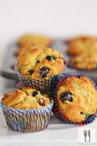 Gluten Free Blueberry Muffins Made with Almond Flour