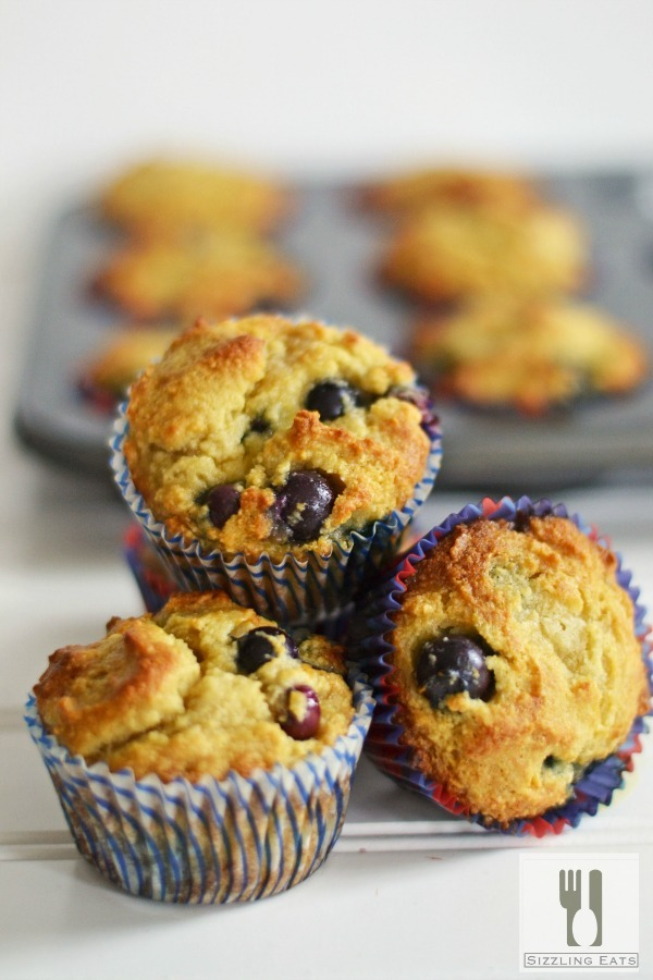 Gluten Free Blueberry Muffins Made with Almond Flour - Sizzling Eats