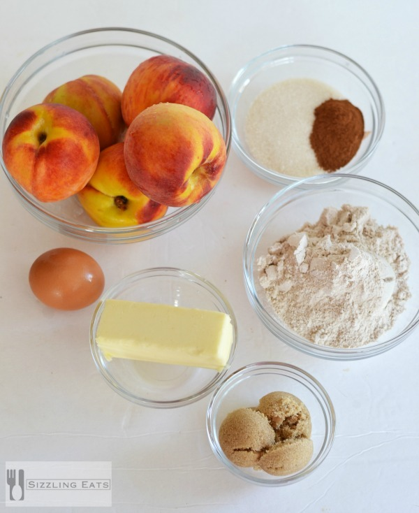 Peach-crumble-recipe-ingredients