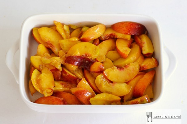 Sliced-peaches