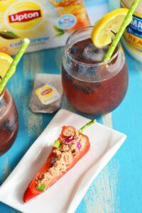 Lipton's Be More Tea Sweepstakes, Stuffed Tuna Peppers & Fresh Blueberry Tea