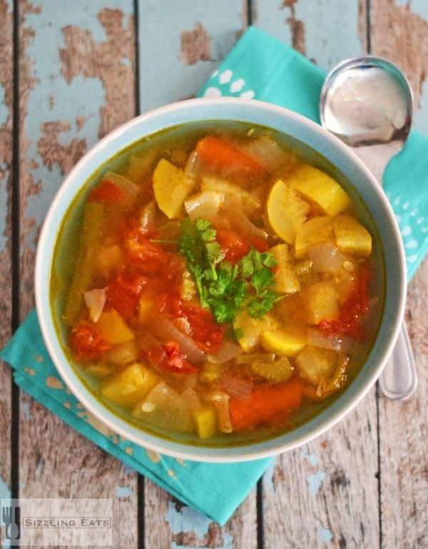 Easy Summer Vegetable Soup - Sizzling Eats