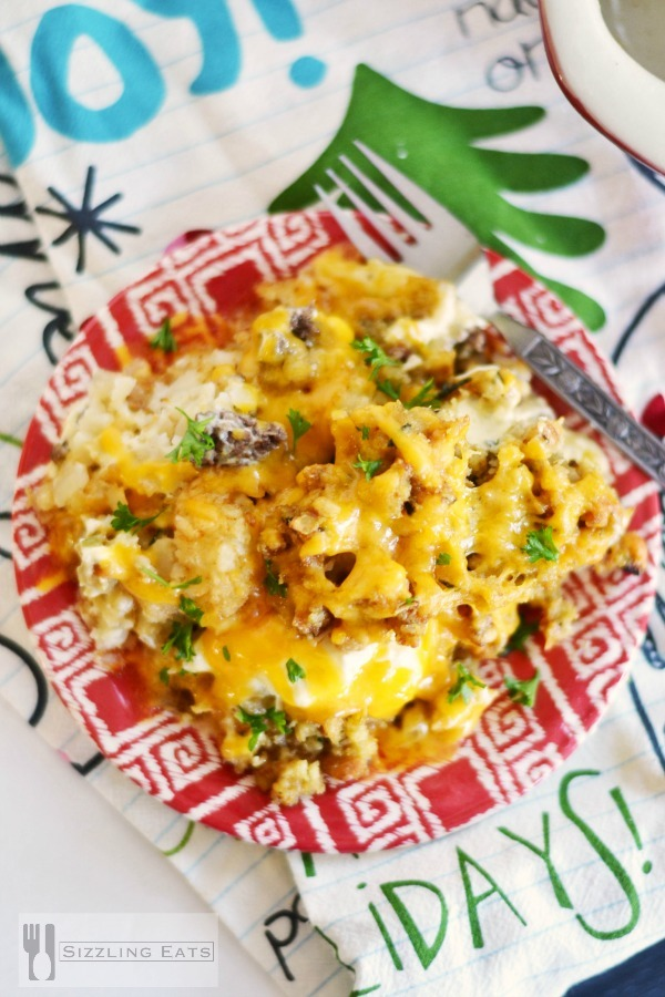 Cheesy Tater Tot Casserole with a Twist - Sizzling Eats