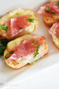 salami-and-harvarti-crostini