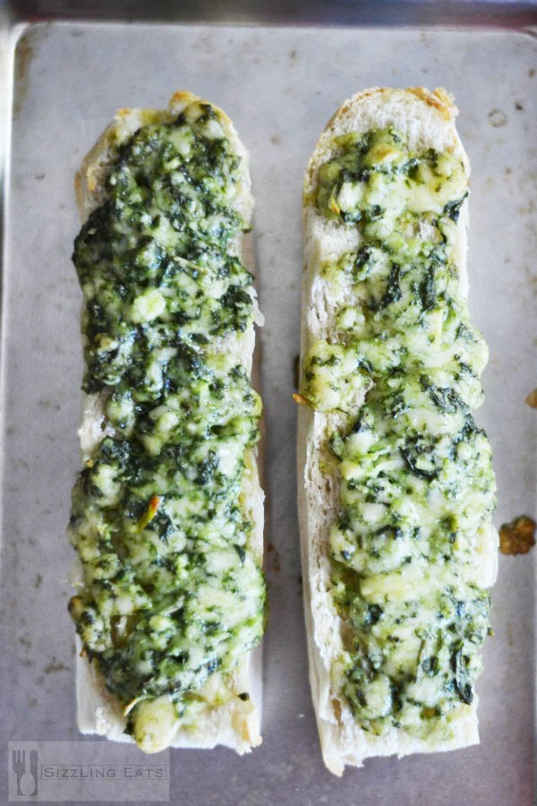 Pesto-garlic-bread