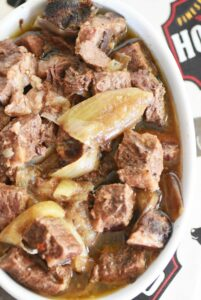 Slow Cooker Cubed Steak and Onions