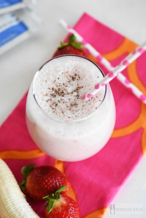 Strawberry-Banana-Breakfast-shake