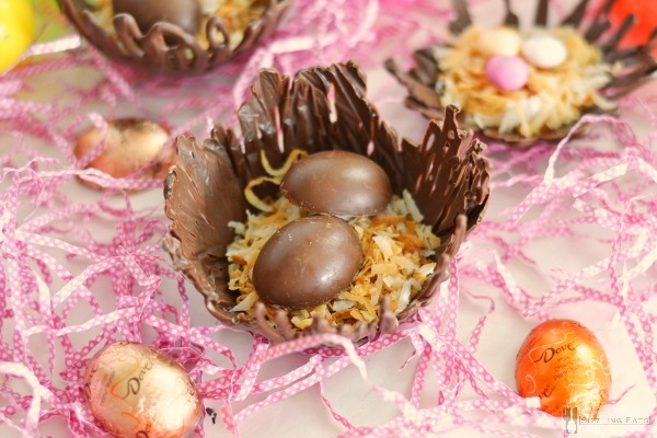 Chocolate-candy-filled-nests