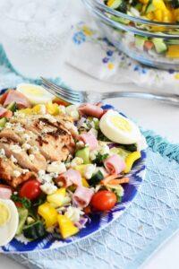 #AD: Easy Grilled Chicken & Ham Cobb Salad