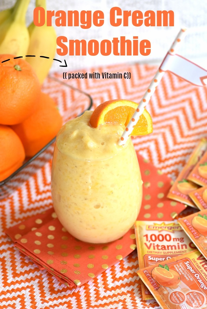 Nutritious Orange Cream Smoothie