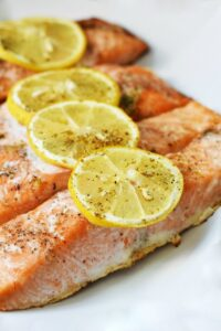 Terra's Kitchen Overview & Oven-Baked Lemon Herb Salmon Recipe