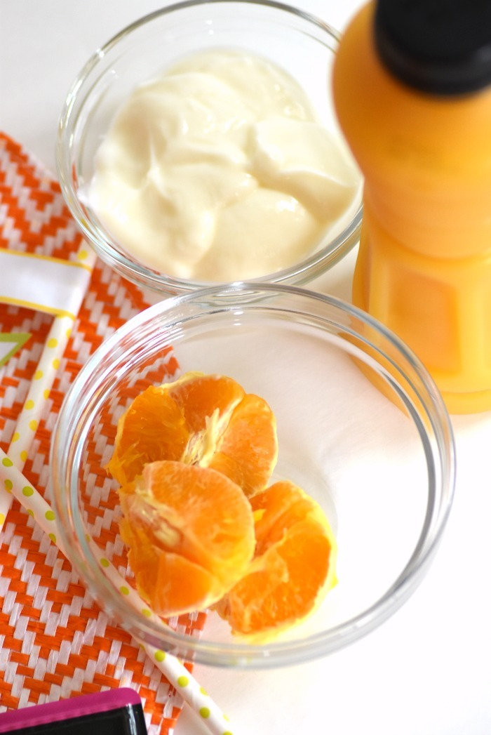orange and yogurt