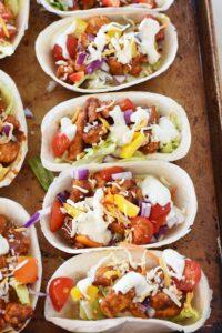 Quick & Easy Chicken Ranch Taco Boats