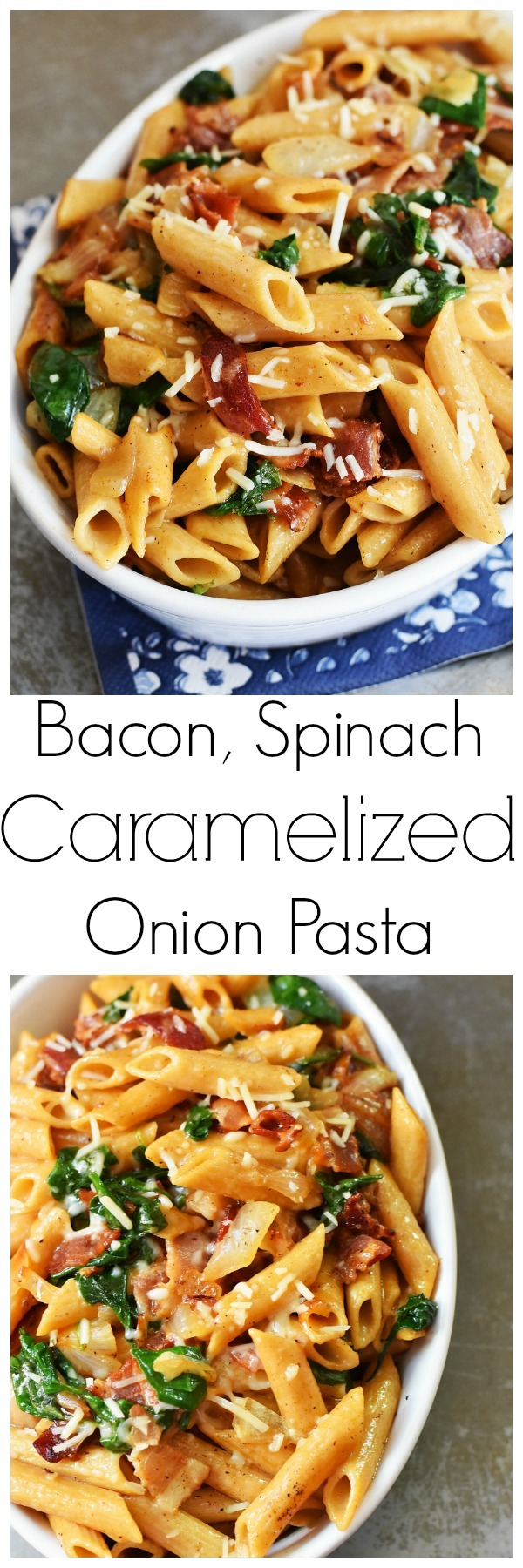 caramelized-bacon-spinach-pasta