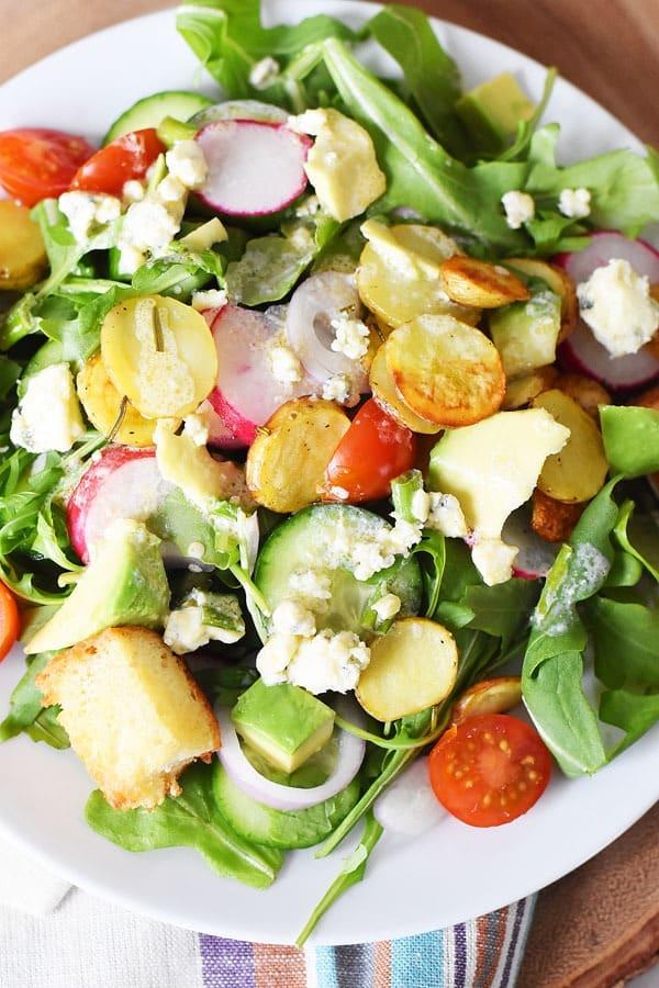 gorgonzola-arugula-salad