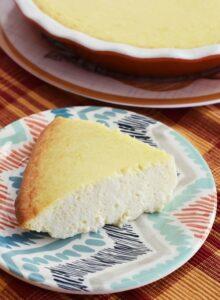 crustless cheesecake-in-pie-dish