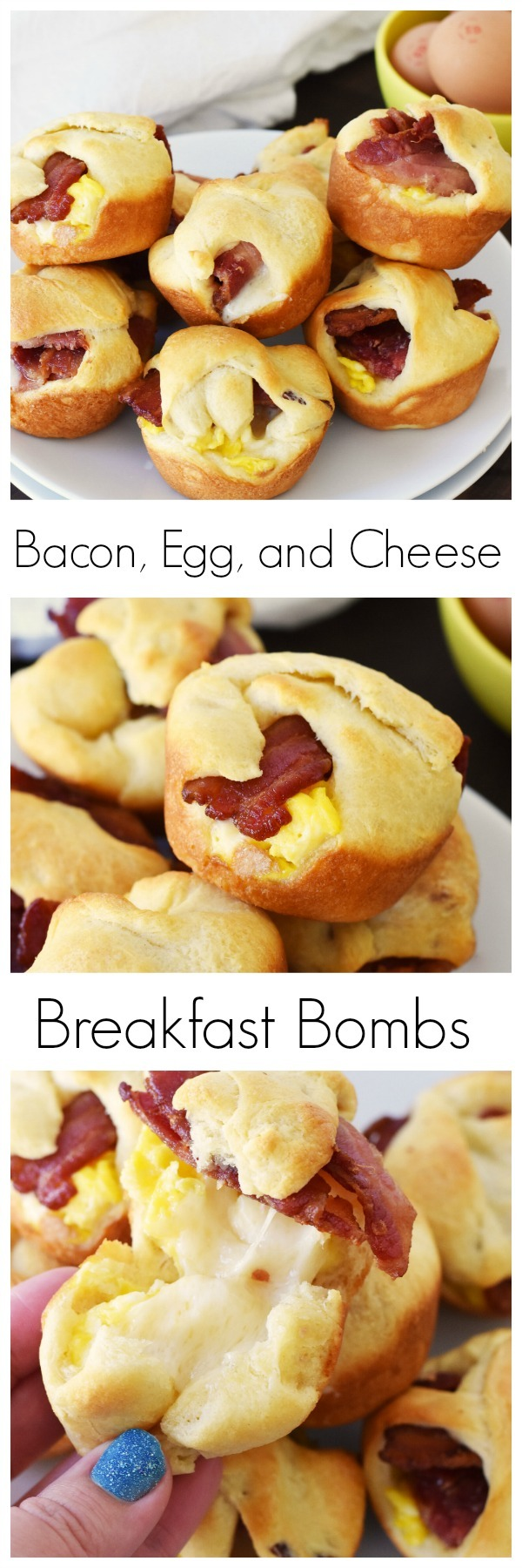 Bacon, Egg, Cheese, Breakfast Bombs