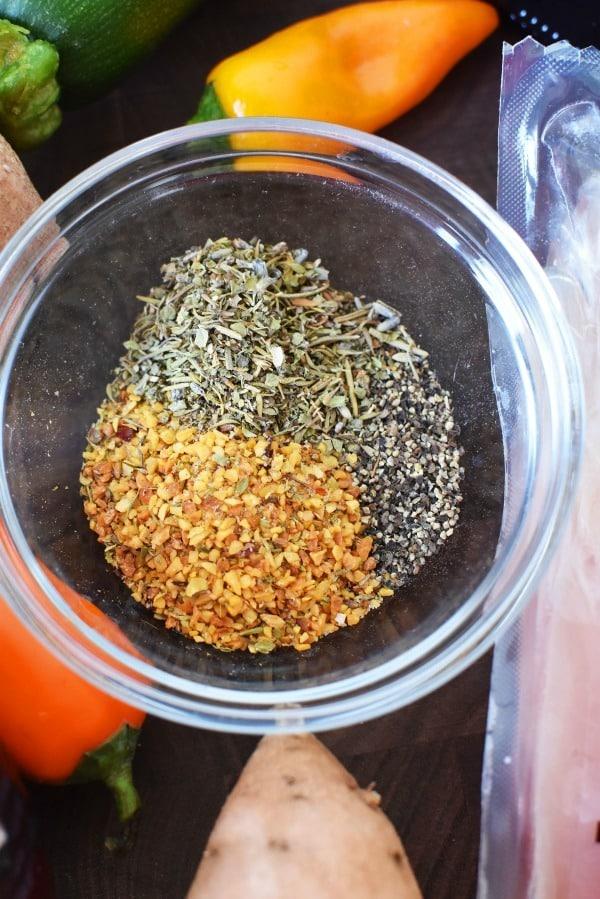 Sheet Pan Chicken Spices