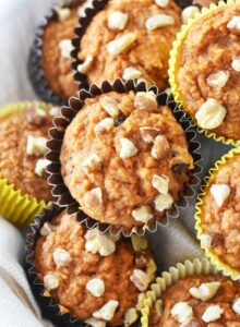Healthy carrot cake muffins batch