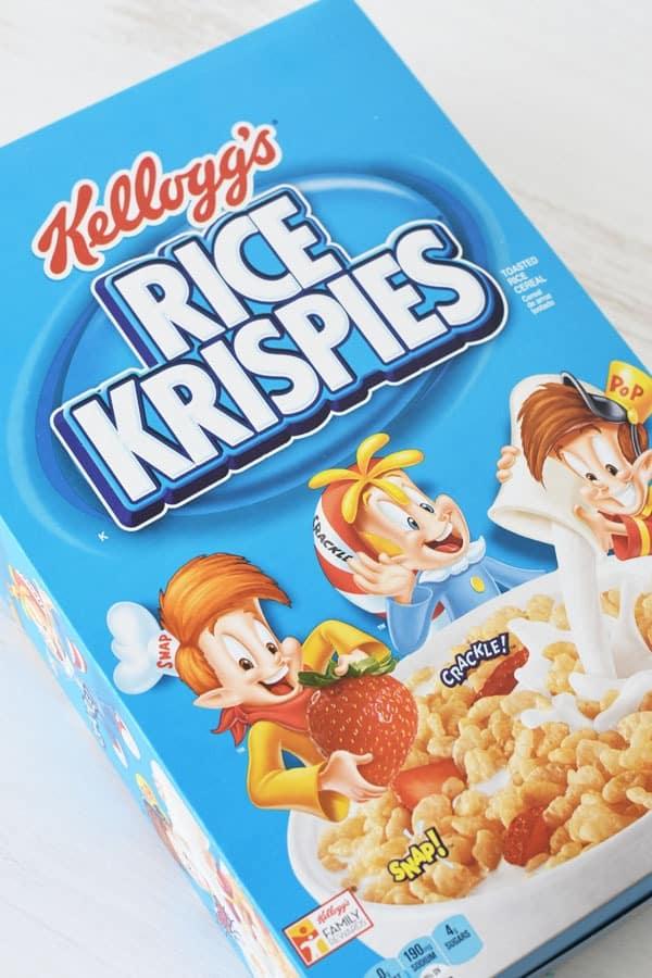 Rice Krispies Cereal Box