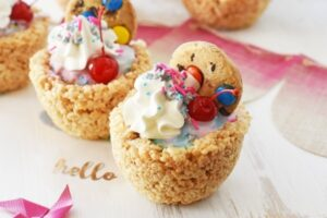 Unicorn Rice Krispies Treat Sundaes