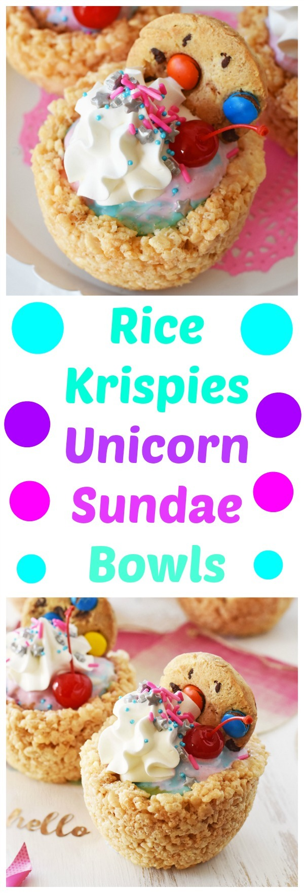 Rice Krispies Unicorn Sundae Bowls