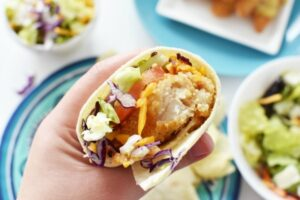 Honey Mustard Fish Crunch Wraps