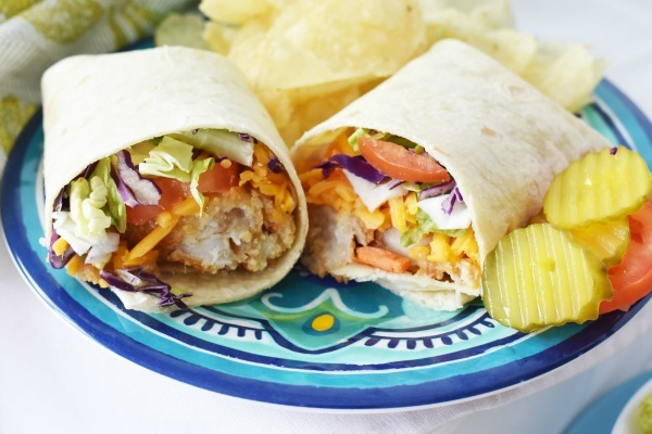 Honey Mustard Fish Wraps