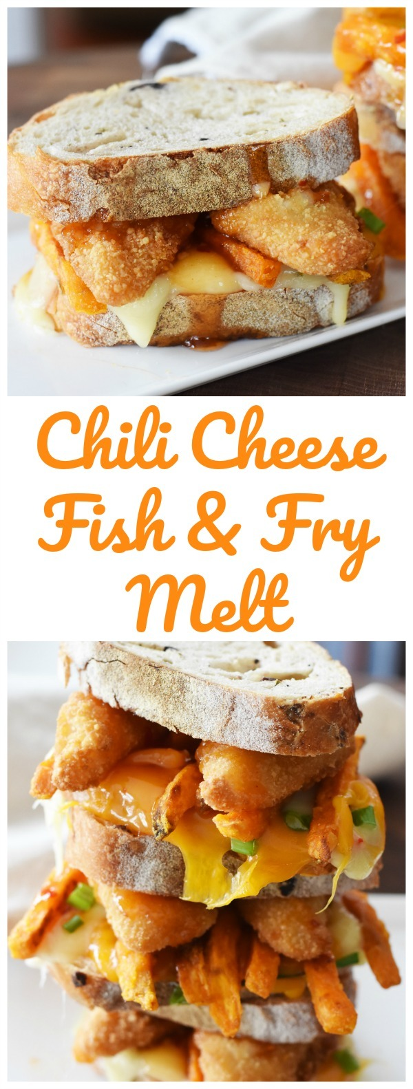 Chili Cheese Fish and Fry Melt