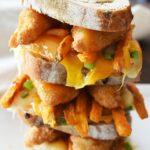 Chili Cheese fish and chips cheese melt