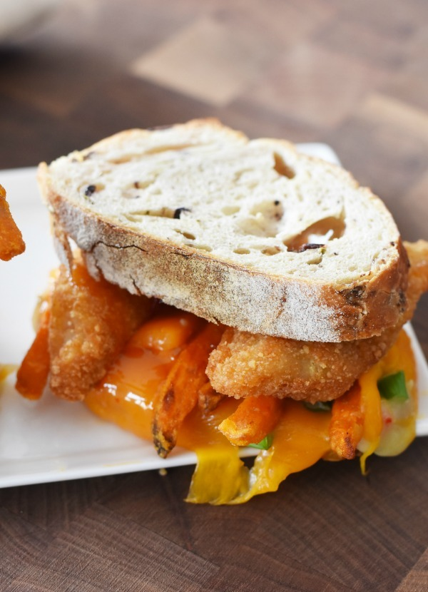 Chili Cheese fish fry melt