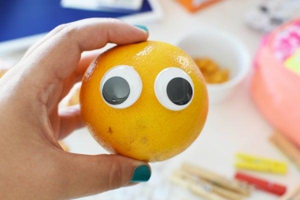 Orange with eyes