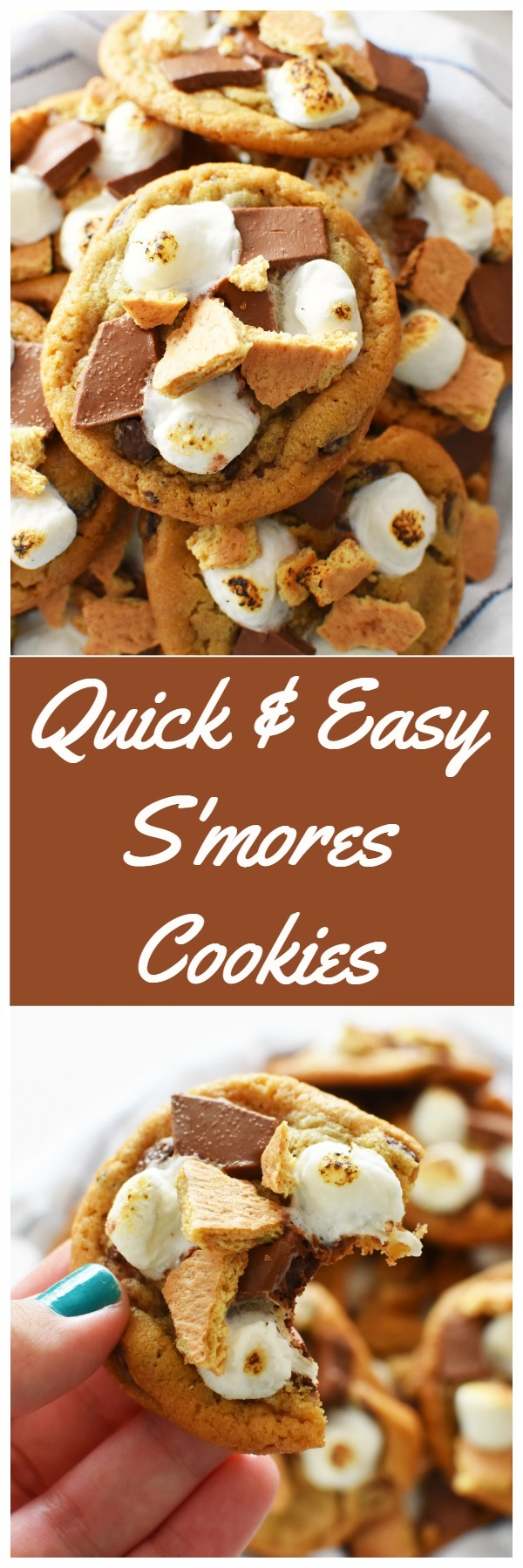 S\'mores Cookies Recipe {Quick & Easy}