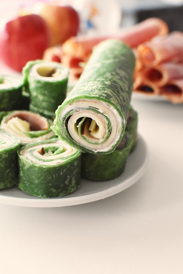 Spinach cheese and meat rolls