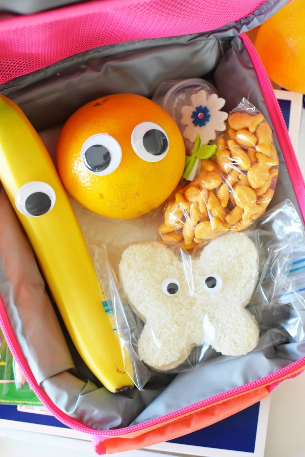 Wiggly eyes lunchbox