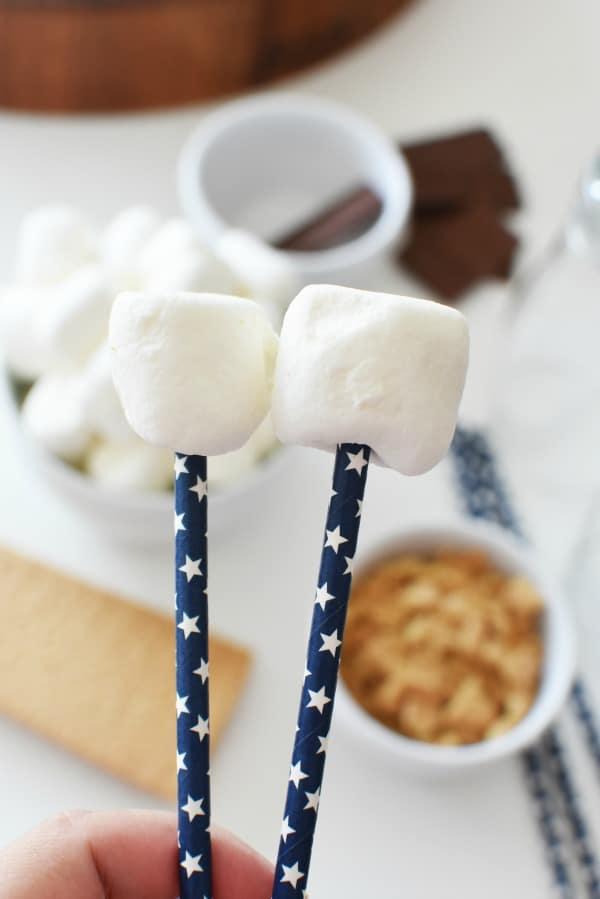 marshmallows on a stick