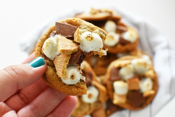 smores bitten cookie