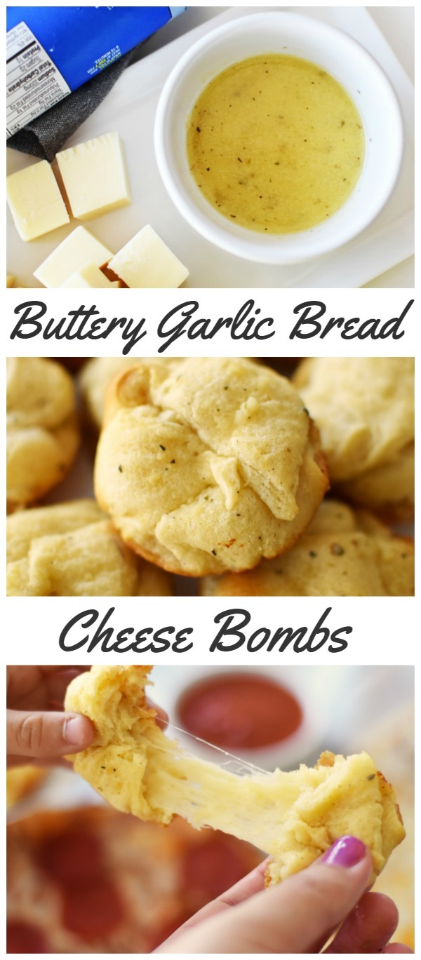 Buttery Garlic Bread Cheese Bombs
