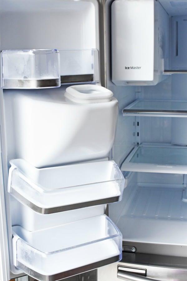 Clean fridge interior