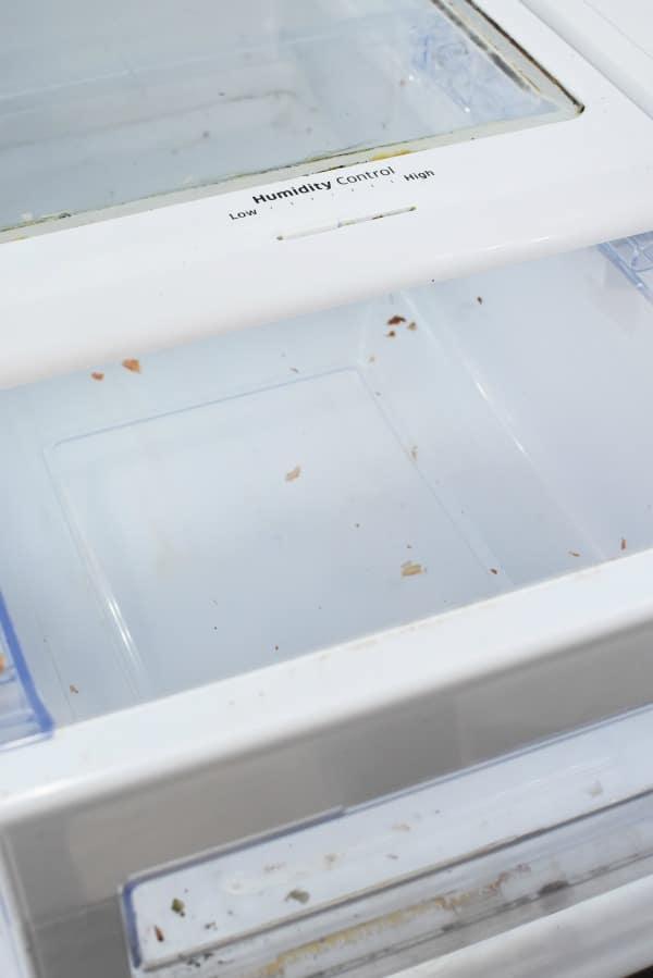Dirty fridge drawer